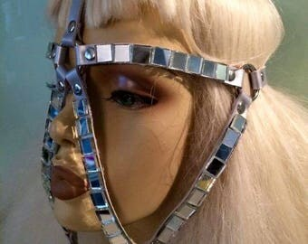 SAMPLE SALE! Silver leather face harness