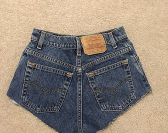 Vintage Levis high-waisted shorts