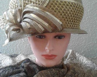 Elegant Gold Hat
