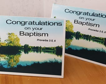 Beautiful baptism cards make lovely JW  gifts for anyone who is getting baptized at our Conventions.
