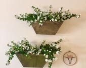 Wall Planters. Pair of 2. Indoor/outdoor rustic flower planters