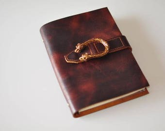 Engraved notebook,leather travel diary,leather notebook, leather diary, leather journal