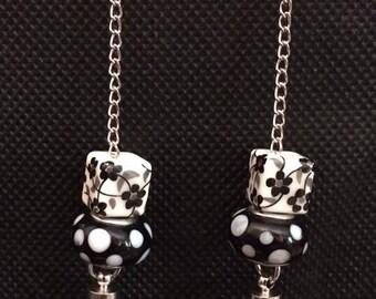 Beaded Tassel Dangle Earrings
