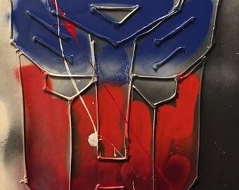 Optimus Prime Abstract Art