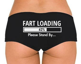 Fart Loading Low Rise Cheeky Boyshorts