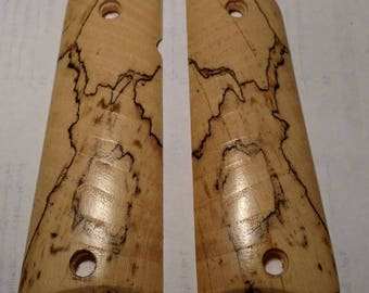 Spalted Hackberry 1911 Grips