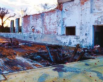 Abandoned Mill Sunset // Sunset Photography // Colorful Wall Art // Printable Photography // Abandoned Mill Photography