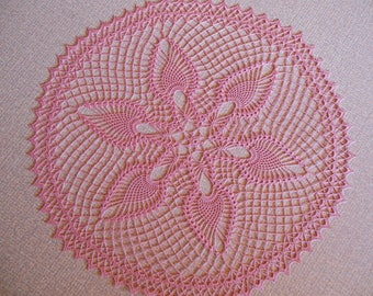 """Us"" round crochet doily"