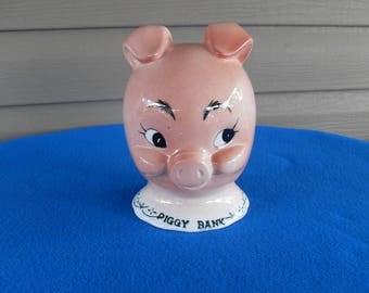 Rare Large Vintage Piggy Bank Piggy Head