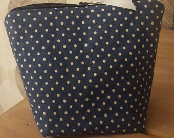 Handmade Spotty Make Up Bag
