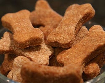 Homemade Dog Biscuits made from only 100% natural ingredients.