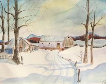 Snowscape --noon