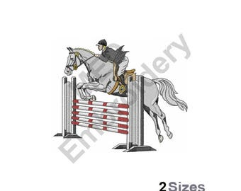 Horse Jumping - Machine Embroidery Design
