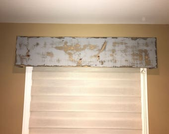 Rustic Wood Cornice / Valance / Window Treatment