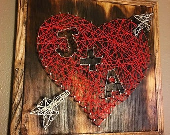 Custom String Art with Your Initials