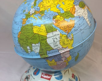 Ohio Art 6 inch Globe Bank 1950s