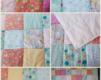 Beautiful handmade patchwork quilt