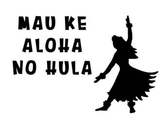 Love always for Hula Decal