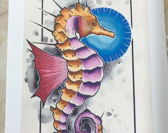 Sea Horse Water Color