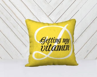 Getting My Vitamin D Throw Pillow Cover