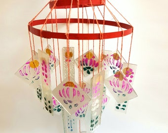 Antique Japanese Chinese Glass Wind Chime