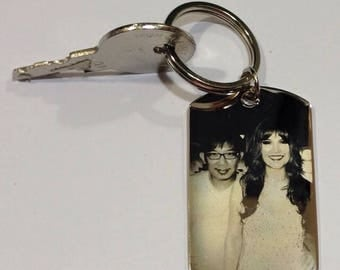 Engraving Tag,Personalized Pendant,ID Tag,Photo Engraving Keyring,Engraved Photo Tag,Photo Engraving,Engraved Photo Keychain,Engraved Tag