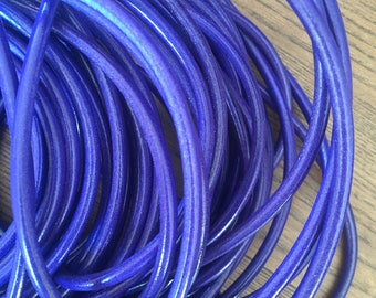 Round leather cord, high quality Ø5,0mm - purple (sold by meter)