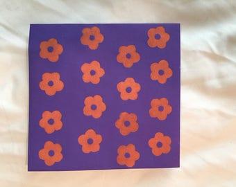 monoprint mini flowers