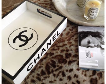 CHANEL Black and White Tray