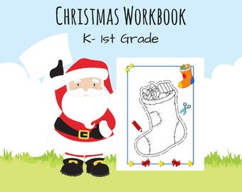Christmas Workbook K- 1st Grade