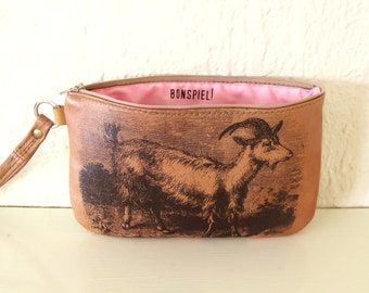 Goat Recycled Leather Wrist Purse