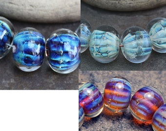 Ofira - Handmade Glass Lampwork Round Beads SRA MTO elasia - Choose color