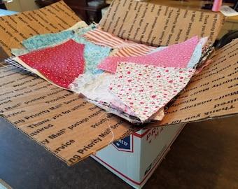 Over 5 Lbs Cotton Fabric Scraps Remnants Destash, Cotton Calico