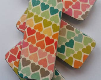 Long thin tin. . . Rainbow Hearts