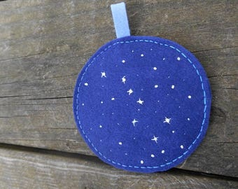 The Big Dipper, Constellations, Stars Embroidery, Star Art ornament, Fiber Art, Circle Embroidery, Home Decor, Wall hanging