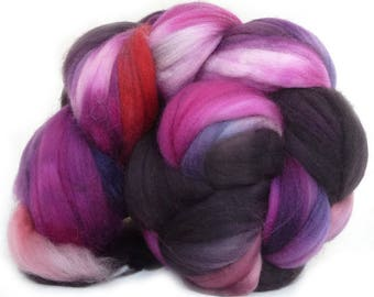 SUPERWASH MERINO roving top handdyed wool spinning fiber 4 oz