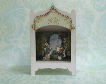 Miniature Toy Theater Alice in Wonderland Vignette