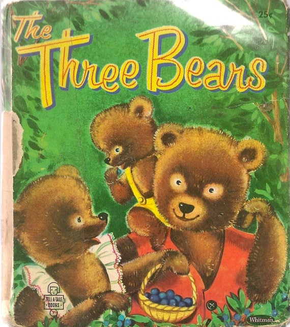 The Three Bears a Whitman Tell-a-Tale Book - Suzanne - 1955 - Vintage Kids Book