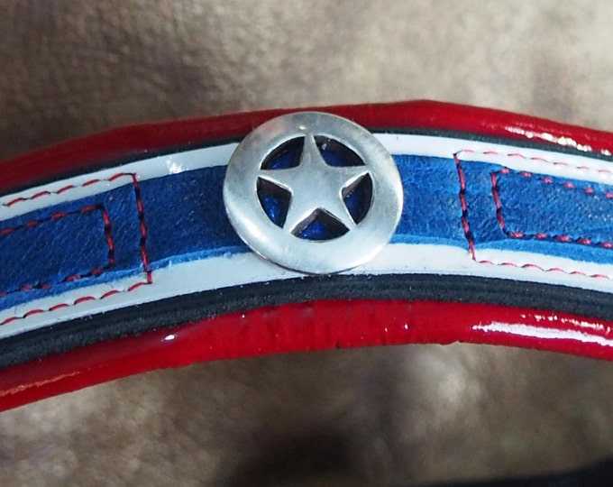 Captain America Inspired Leather Show Brow Band