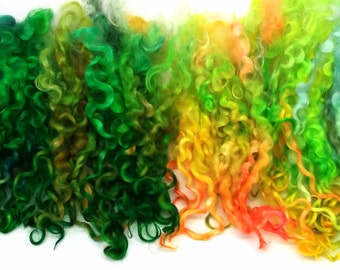 Wensleydale Locks 6-8 Inches, 1.1 oz, Separated, Defined, Bouncy, Hand Dyed, Doll Hair, Reroot, Blythe, Waldorf, OC19-02