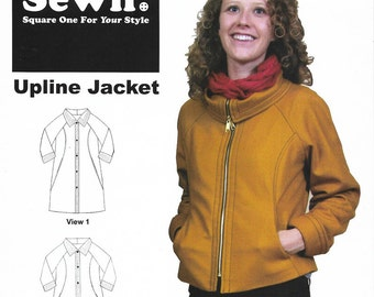 Sewn Square One - UPLINE JACKET or TRENCH Coat - 3 Styles - Sewing Pattern - Multi Sizes 0 to 20 - Uncut
