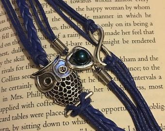Heart Infinity owl 5 string bracelet