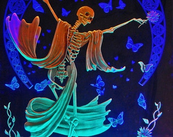 The Dance  carved etched glass LED light art