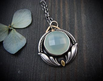 forest oracle ... chalcedony pendant