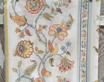40% OFF- Vintage Retro Bed Sheet-Retro Floral Simplicity-Full Flat