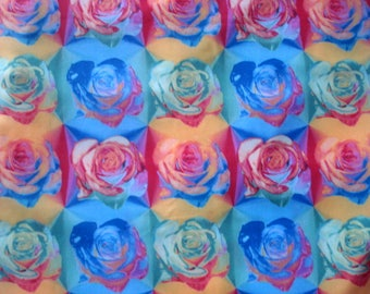 Painted Roses Designer Lycra Fabric
