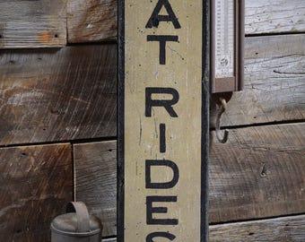 Boat Rides Wood Sign, Custom Boat Decor, Boat Owner Gift, Boating Sign, Boat House Decor, Rustic HandMade Vintage Wooden Sign ENS1001853