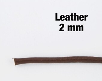 Dark Chocolate 2mm Leather Cord #CDR101