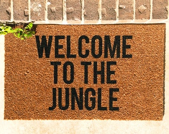 Welcome to the jungle, baby. Natural CoCo Coir Fiber Modern Tagged Outdoor Welcome Mat Custom doormat