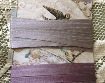 4mm hand dyed silk ribbon